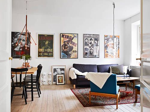 Decorate With Movie And Music Posters Via Stadshem My Ideal