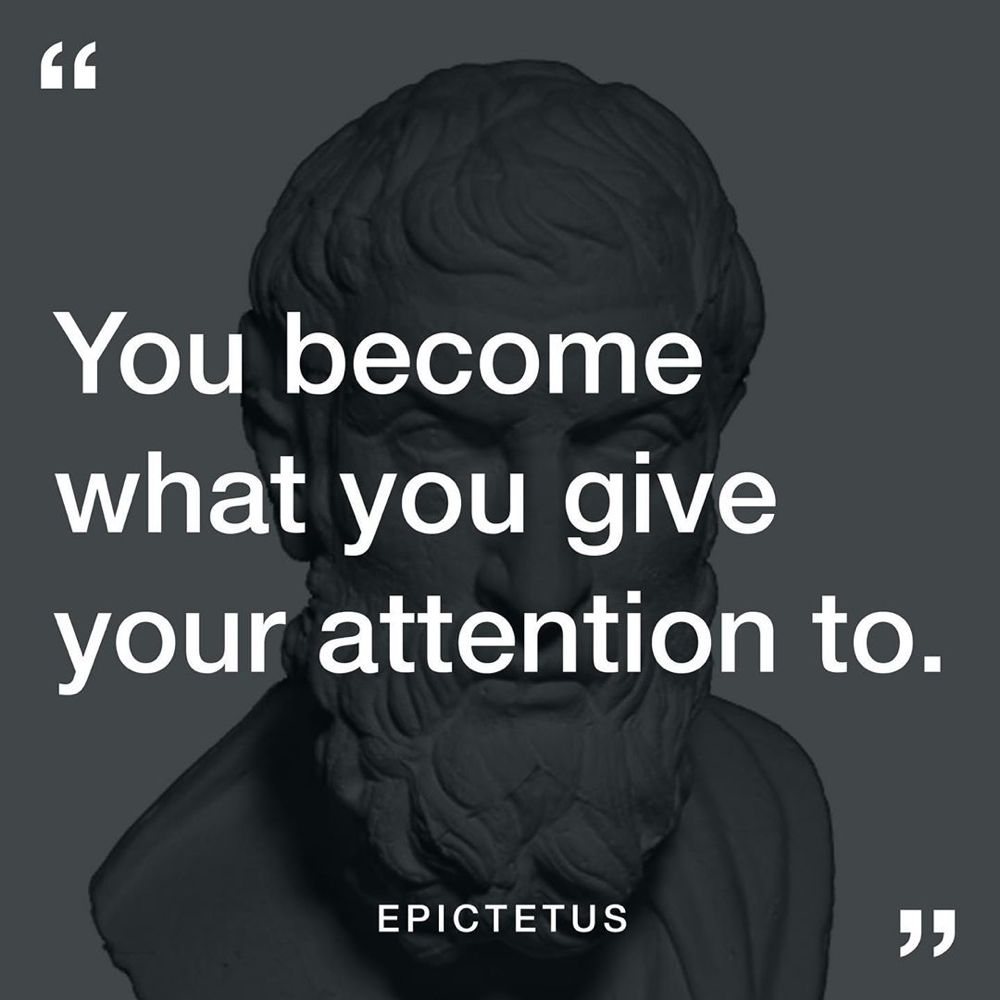 Stoic Reflections On Instagram Are You Selective With Attention Wordstoliveby Marcusaurel Stoic Philosophy Quotes Inspirational Quotes Motivation