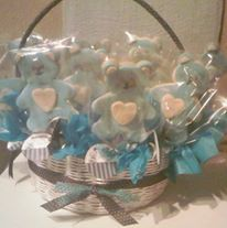 Cestas de galletas para nacimientos