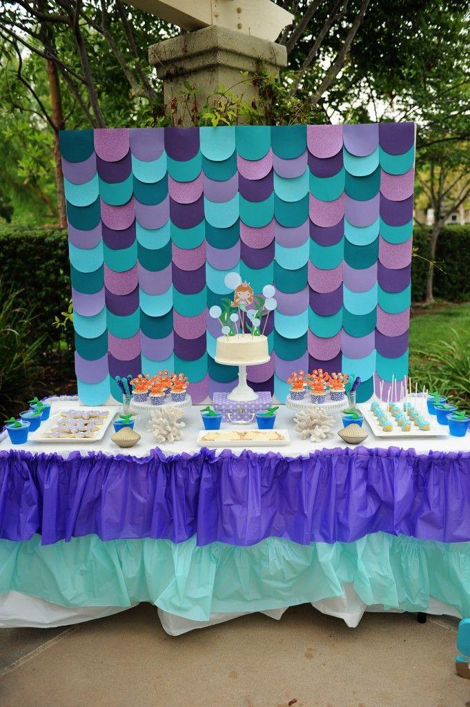 Pin De Leydi En Fiesta Mermaid Theme Birthday Mermaid