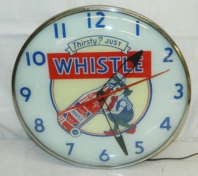 Vintage 1954 Whistle Soda Pop Lighted Advertising Wall Pam