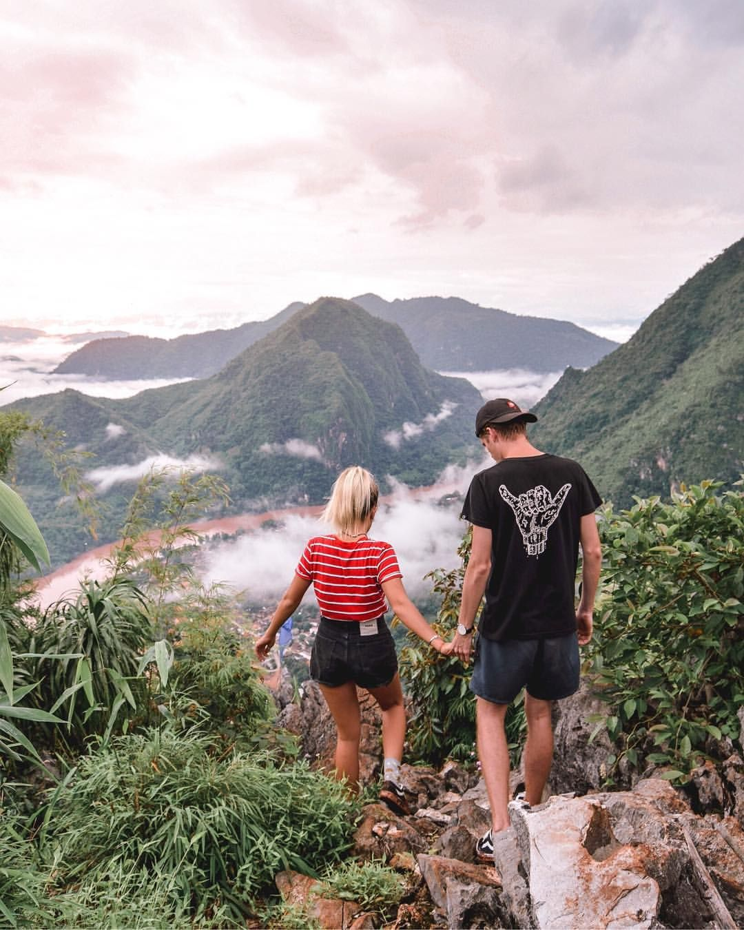 Nong Khiaw Viewpoint Laos South East Asia - Wanderers & Warriors Charlie & Lauren UK Travel Couple - Hiking - Climbing - Together Always