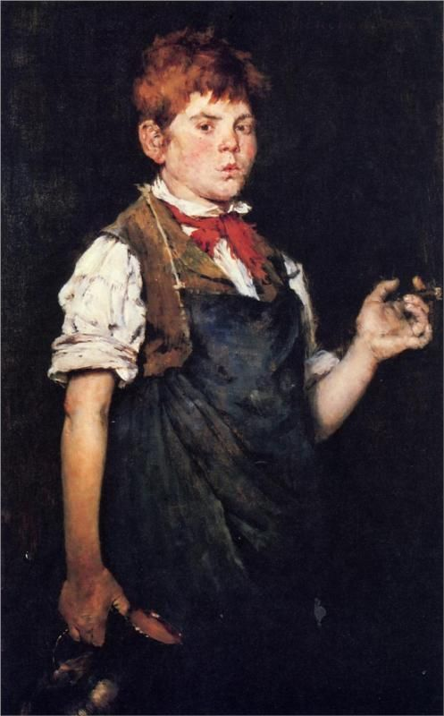 The Apprentice, aka Boy Smoking, 1875  William Merritt Chase