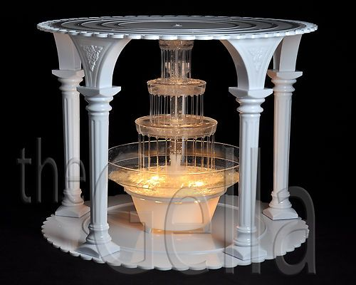 White 5 Column Wedding Party Separator Cake Stand With