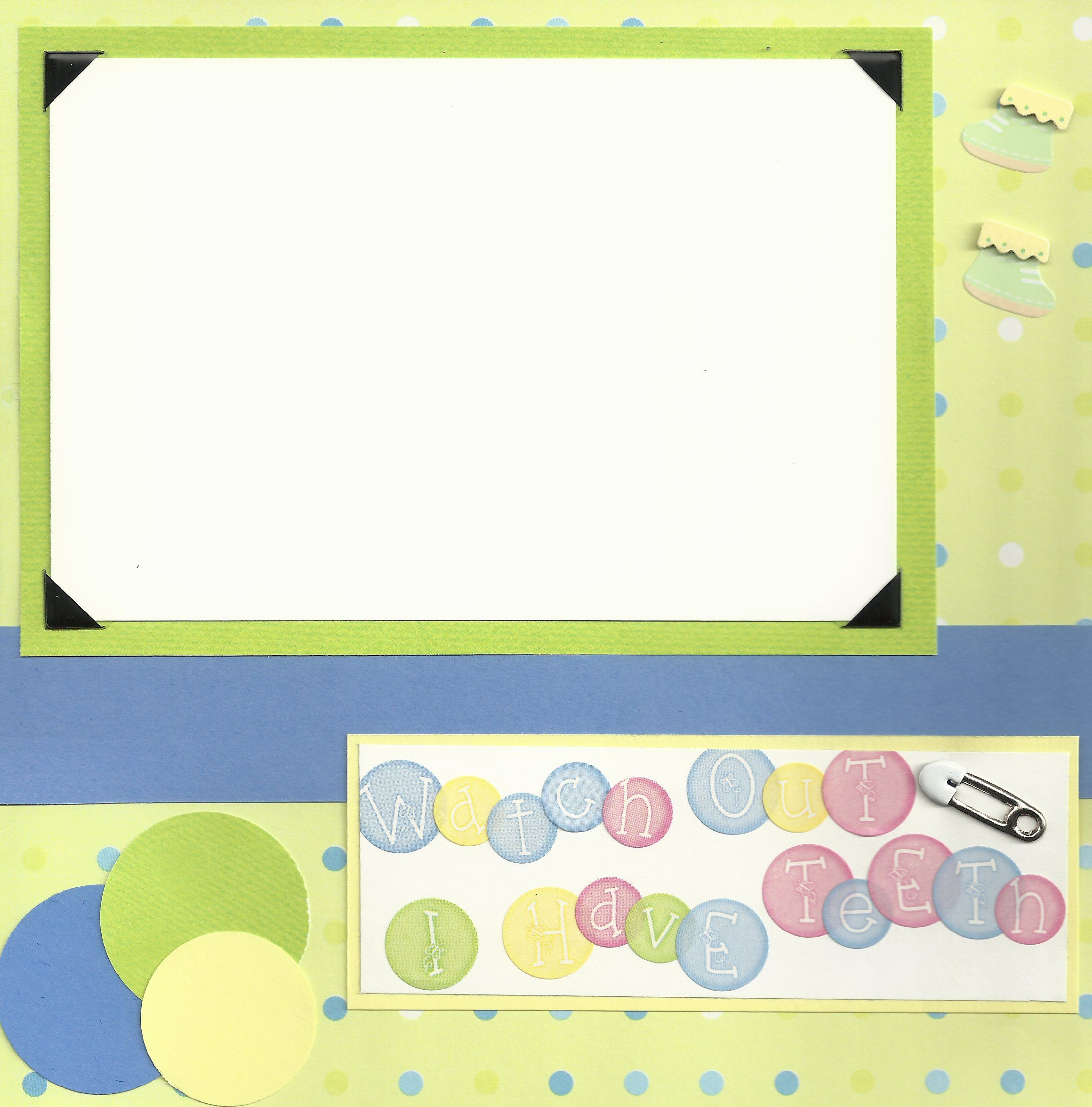 Baby scrapbook page ideas - Baby Scrapbook Page Ideas 8x8 Pages I Have Teeth Teething