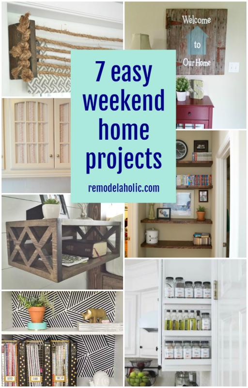 7 Easy Weekend Home Projects Home Projects Diy House Projects Weekend Projects Diy