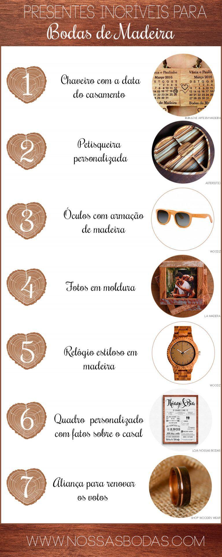 Dicas De Presentes Para Bodas De Madeira Com Imagens