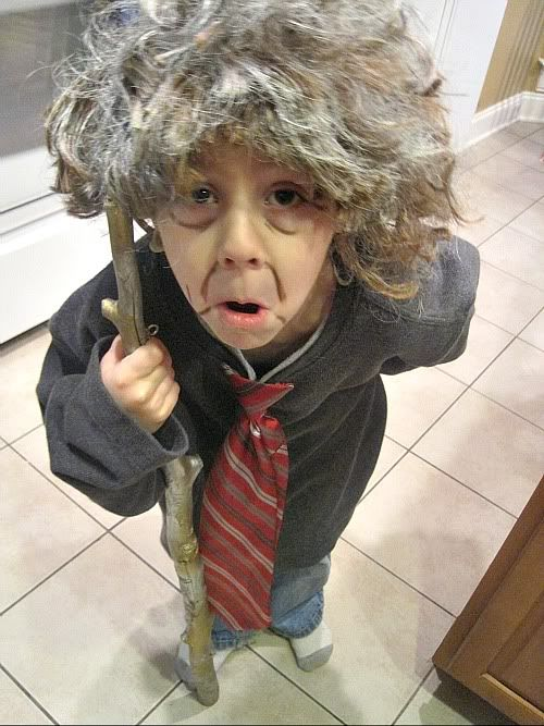 dress up like you're 100, for the 100th day of school. fun!