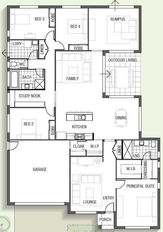 Casuarina 1730 By Sekisui House Qld New House Design In Qld 8013183 Realestate Com Au House Plans Floor Plans Floor Plan Design