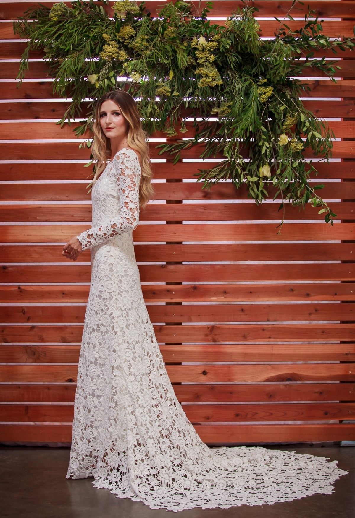 Crochet and Lace Wedding Dress