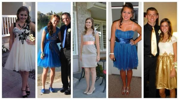 """Sept. 29, 2012.: At least two dozen teenagers are prevented from attending a homecoming dance at Stansbury High in Tooele, Utah, because their dresses expose their knees. """"They told me that it was showing my knees so it was too short,"""" homecoming queen Erica Alvery said. Here are some of the offending outfits."""