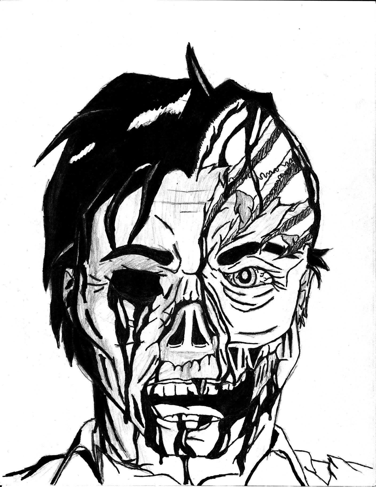 Download Or Print This Amazing Coloring Page Zombie Drawing By Jamesdamionblack On Deviantart Monster Coloring Pages Halloween Coloring Pages Coloring Pages
