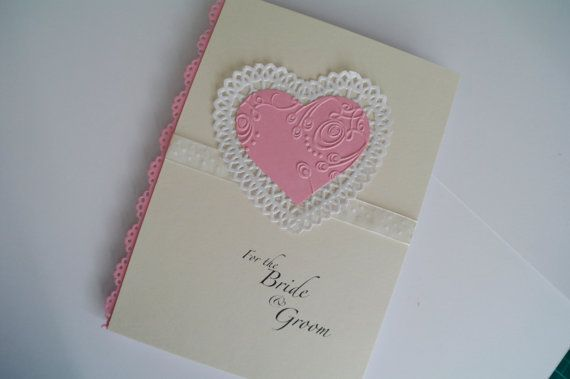 For the bride and groom. Handmade Wedding by RibbonandPearlsCards, £3.00