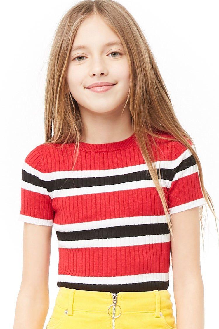 Girls Multicolor Striped Top (Kids) Forever 21 Forever