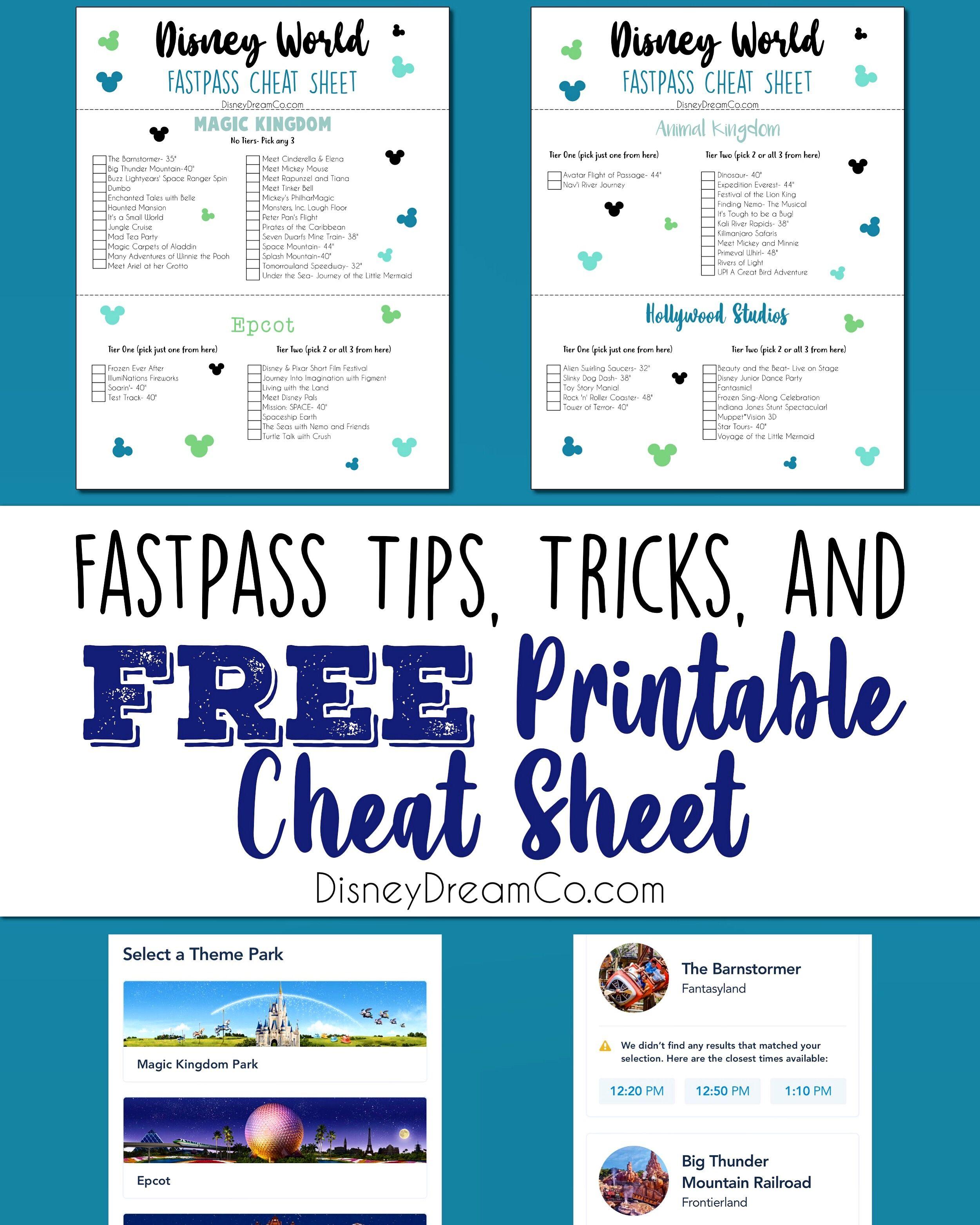 Disney World Fastpass Tips and Cheat Sheet!