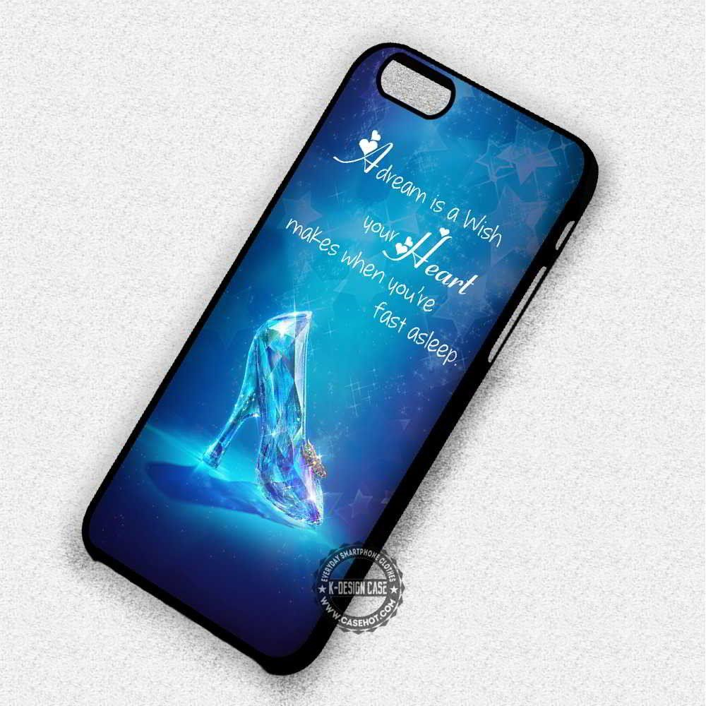 official photos f2311 d8a82 Glass Shoes Quote Love Cartoon Cinderella - iPhone 7 6 5 SE Cases ...