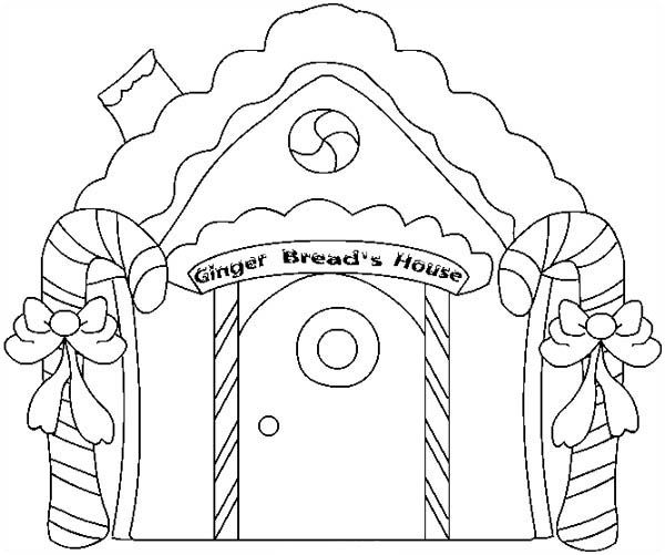 gingerbread house candy coloring pages - photo#15