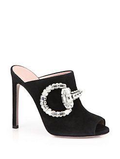 ec54094a771 Gucci - Maxime Crystal Horsebit Suede Sandals
