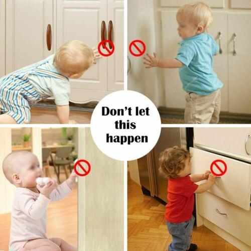 Clippasafe Armoire Serrure de Tiroir sécurisé les prises de sécurité bébé enfant Proofing x 12