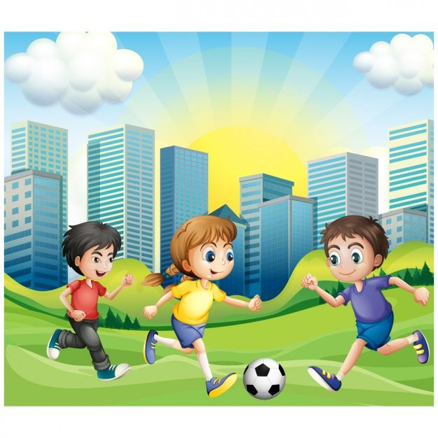 Ninos Jugando Al Futbol Vector Premium Soccer Pinterest Soccer