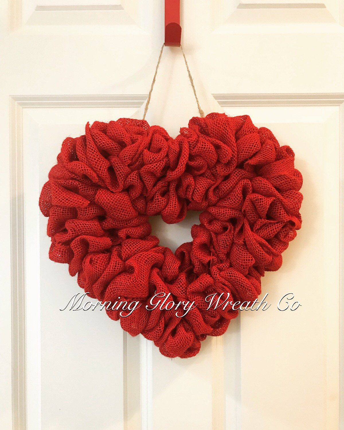 Wreath Kit. DIY burlap heart wreath kits. Burlap. DIY