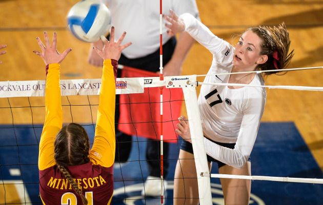 No 1 Women S Volleyball Upended At No 4 Minnesota Women Volleyball Penn State Volleyball
