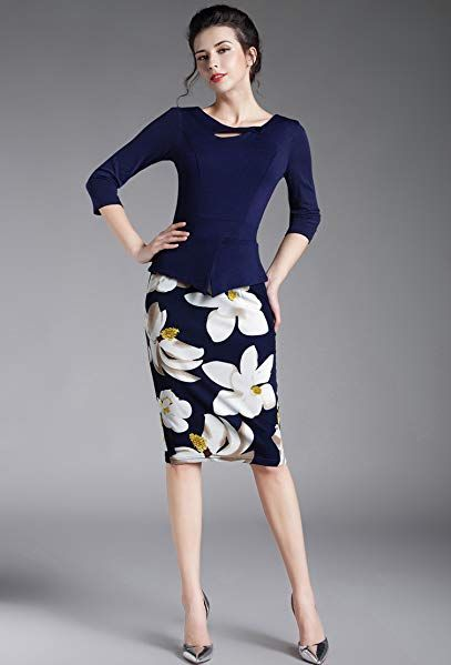 Homeyee womens elegant chic bodycon formal dress b288 verona