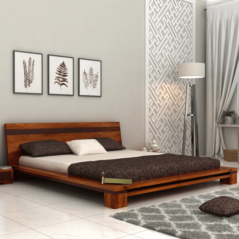 Make Your Bedroom Look Rejuvenate With This Flaux Low Floor Double