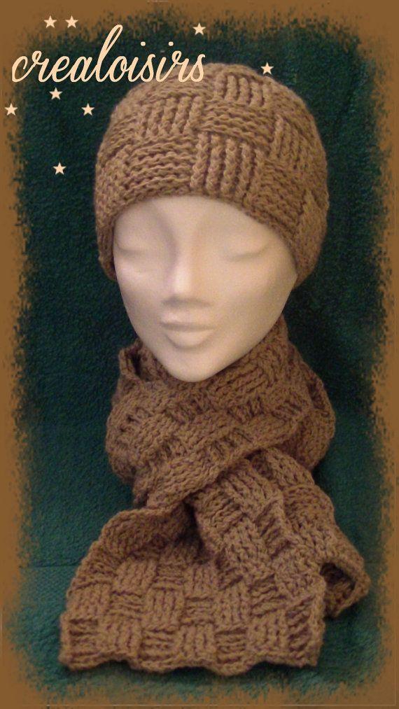 0deefa8eecd32 ensemble femme bonnet écharpe par CREALOISIRSbyCLAIRE sur Etsy ...