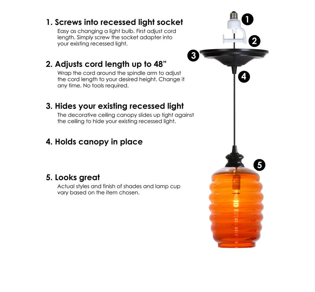 Recessed pendant light conversion kit glass table lamps and recessed pendant light conversion kit glass table lamps and pendants fresh lights mozeypictures Image collections