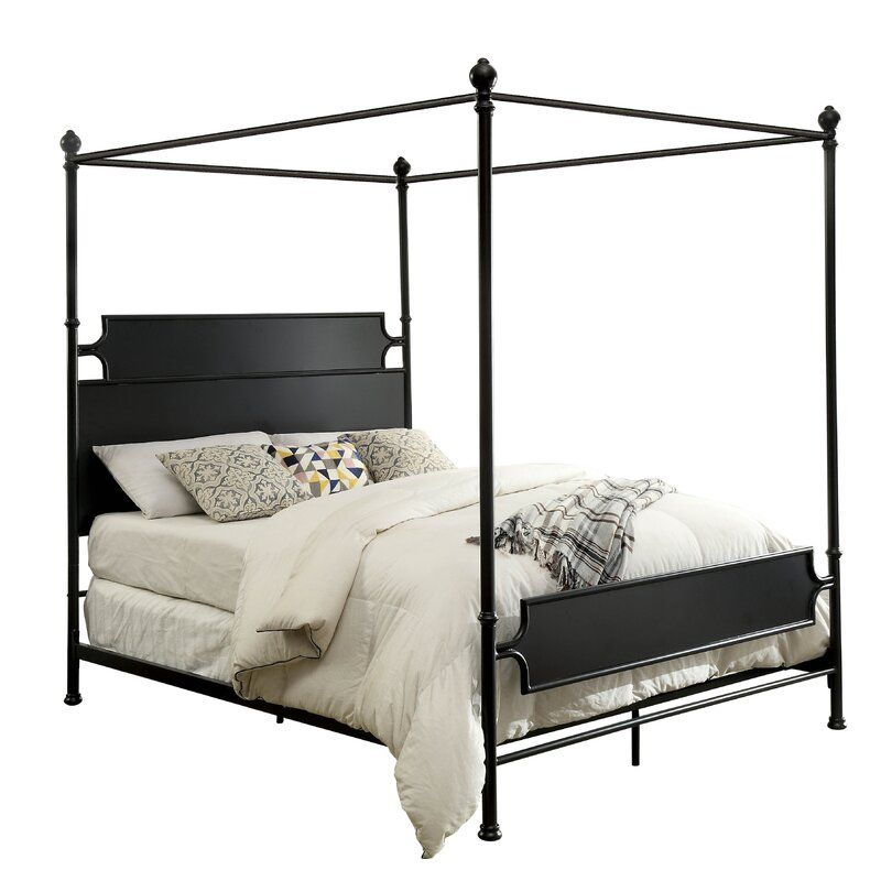 Clinchport low profile storage canopy bed in 2020 king