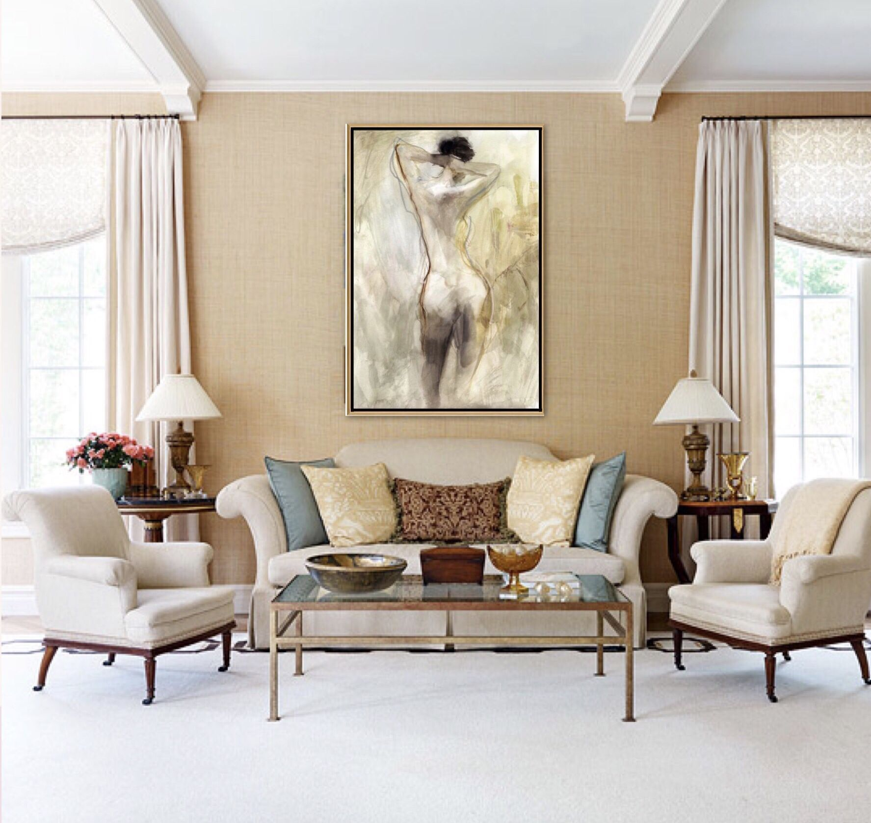 Nude Figure II 40x60 $599.00 #indischeswohnzimmer Figurative Abstracts make every space feel complete!  *  Visit our store Design Haus in Walnut Creek, CA for finish and frame options  * #wallart #art #wallmural #art #ourarthaus #painting #artist #artoninstagram #instaart  #largeart  #largescalepainting #largescalefigurativeabstractart #homedecor #modernliving #interiordesign #roomdecor #homedesign #design #interiordecor #walnutcreek  #pleasanthill  #oakland #berkeley #orinda  #lafayette #alamo #indischeswohnzimmer