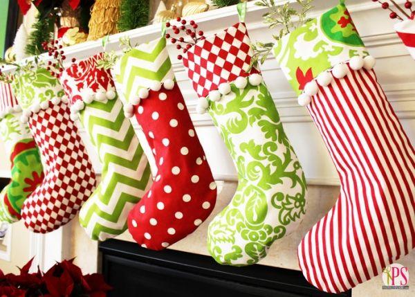 20 Easy DIY Christmas Stocking Ideas | Pinterest | Applikationen und ...