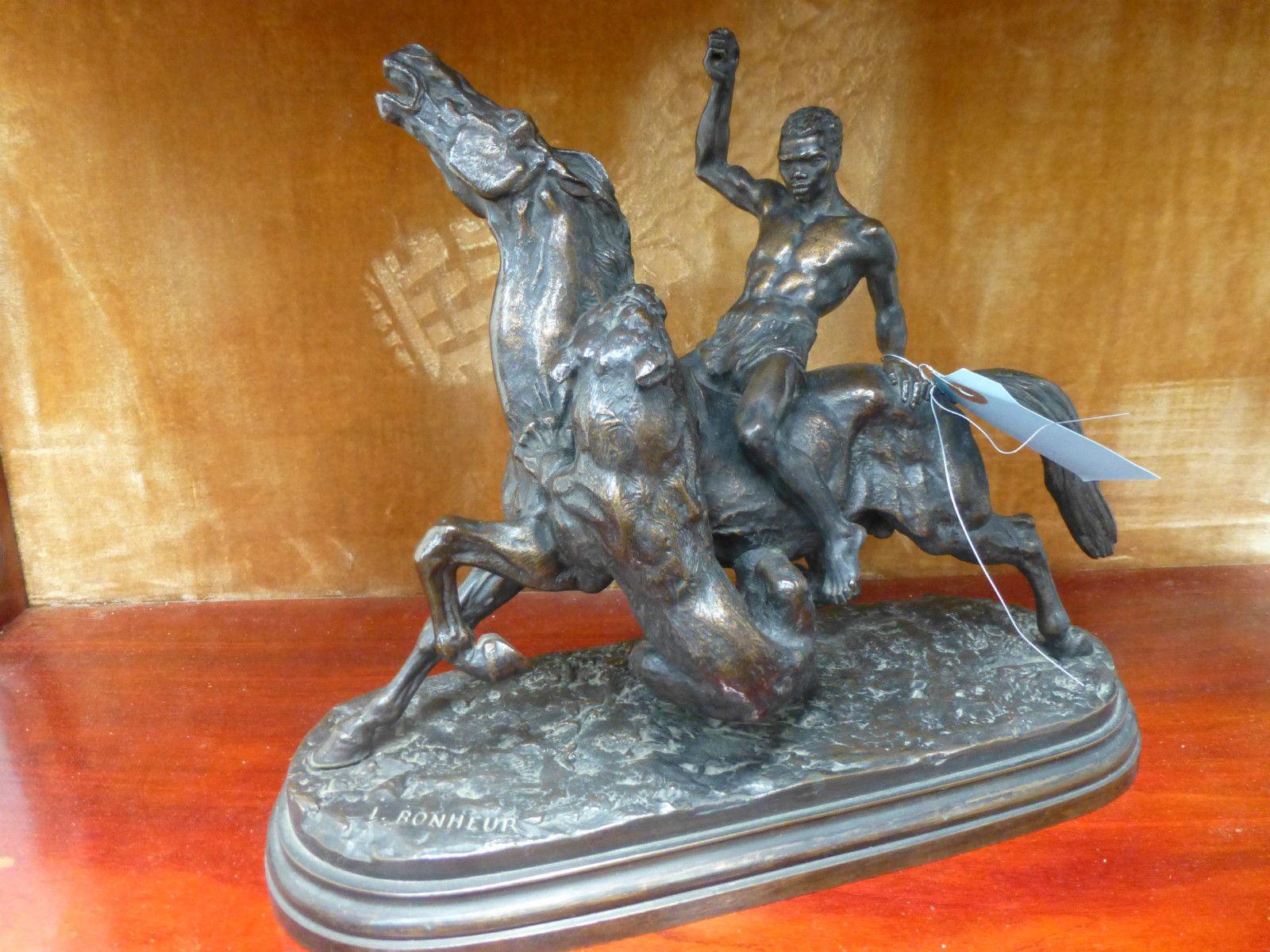 a bronze sculpture by I.Bonheur