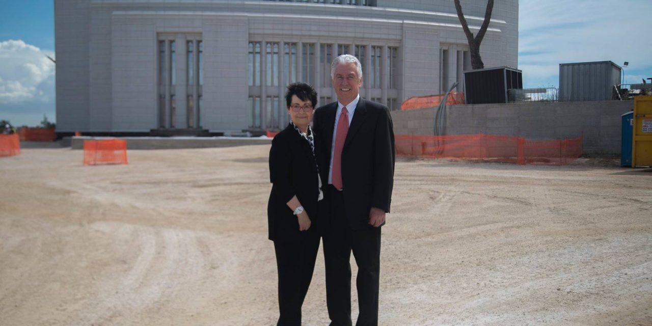 Pres. Uchtdorf visita a Construção do Templo de Roma! Saiba mais em: http://mormonsud.net/artigos/fe/templos/templo-de-roma/