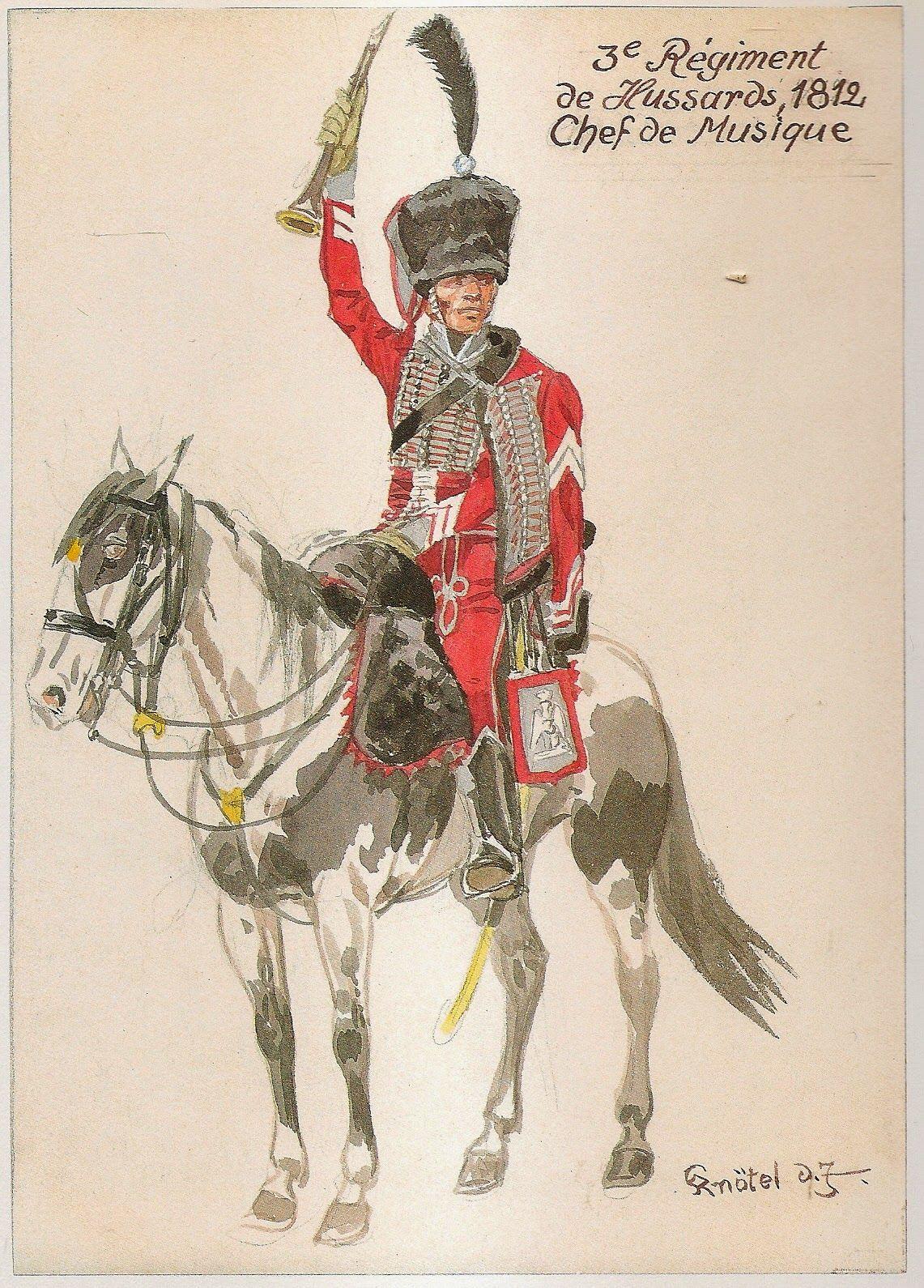 Chef De Musique 3rd Hussars 1812