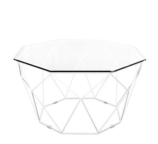 Table Basse de Jardin Aluminium Gris Effet Bois D45cm ...