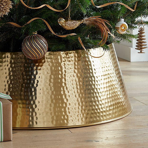 Bash Gold Tree Collar + Reviews Crate and Barrel Tree