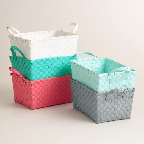 Basket Weave Shower Caddy: White - Plastic by World Market ...