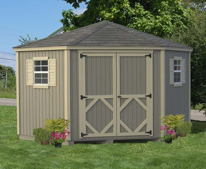 Amish 10 X 10 Classic Five Corner Shed Panelized Kit Shed Design Building A Shed Corner Sheds