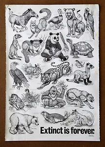 Extinct Is Forever Poster Google Search Woodcuts Prints Animals Friends Lithograph Print