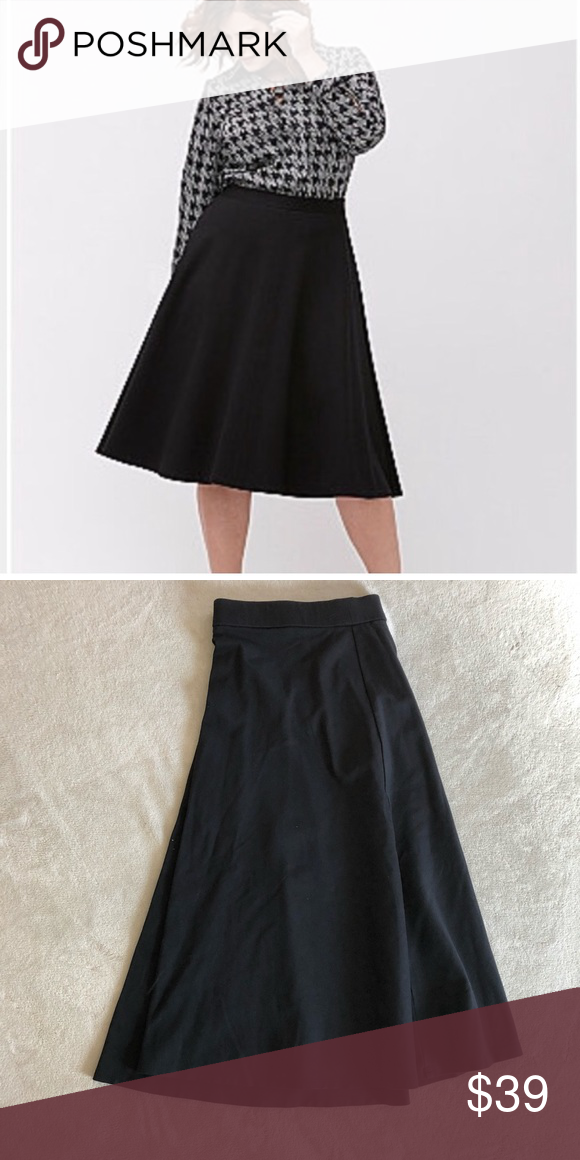 "df74e35d2f Lane Bryant Black Ponte Circle Skirt Black Circle Skirt Heavy knit material  Knee length (28"") Size-22 24 Very versatile Skirt Lane Bryant Skirts Midi"