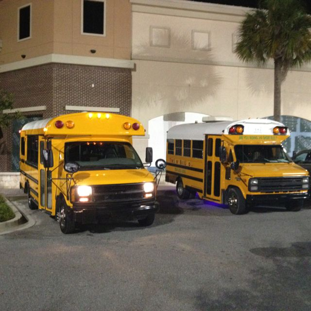 The Short Bus Limo Fleet In Jacksonville Fl What A Great Party Bus Www Theshortbuslimo Com Short Bus Party Bus Fleet
