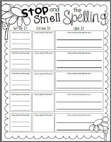 stop and smell the spelling freebie teaching classroom ideas grade spelling spelling. Black Bedroom Furniture Sets. Home Design Ideas