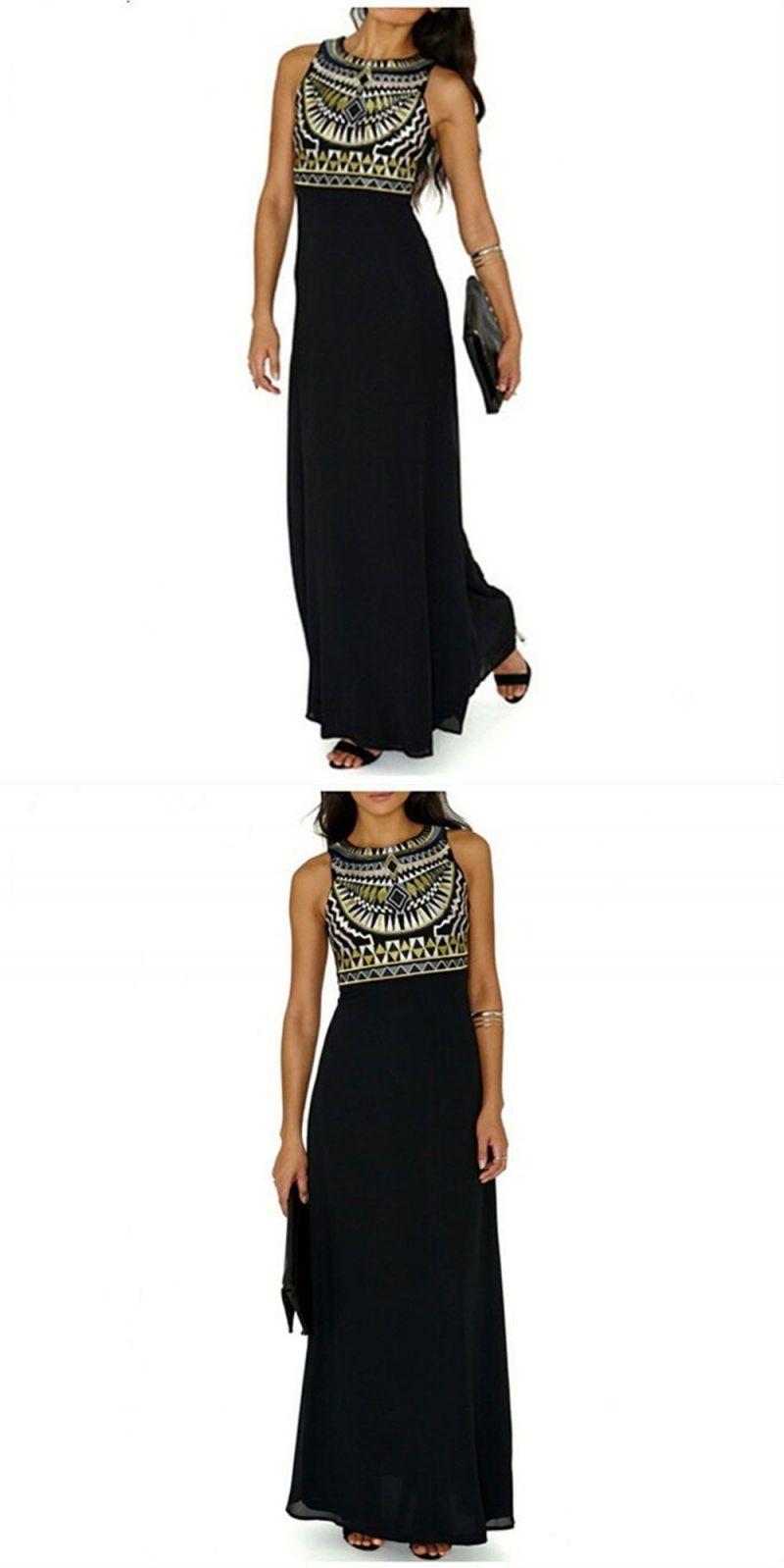 711953ae72 Women's summer boho dress floral print strapless vintage dresses long maxi  evening party beach dress chiffon