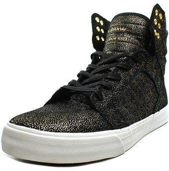 d4177448259 Supra Skytop Men Leather Black Fashion Sneakers