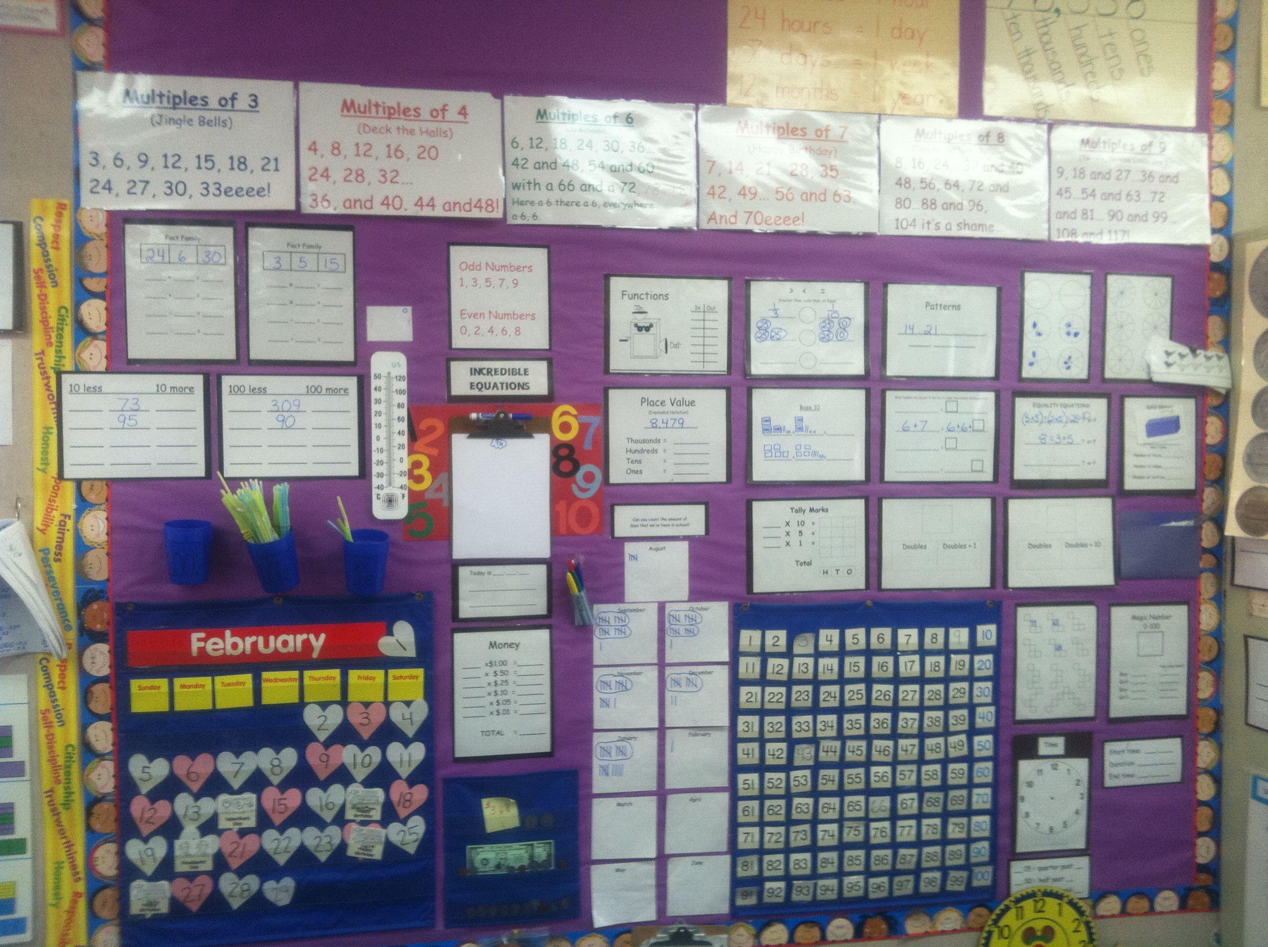 2nd Grade Math Wall