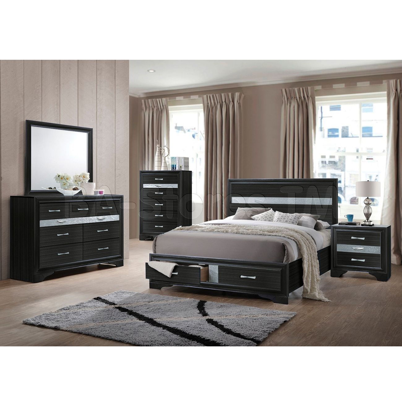 Best Naima Bedroom Set In Black By Acme Furniture With Images 640 x 480