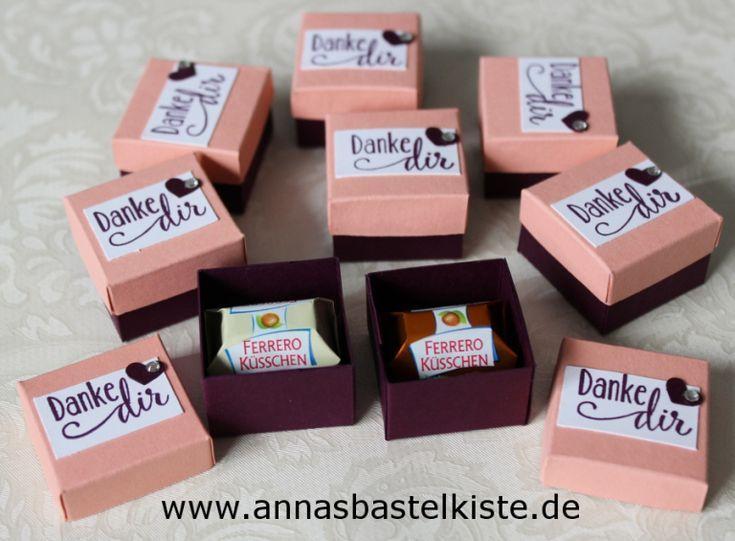 Photo of Gastgeschenk mini Ferrero-Küsschen Verpackung Stampin Up