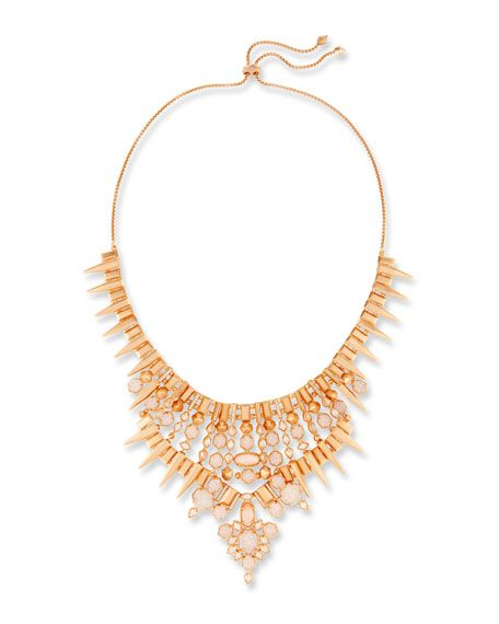 Fashion Jewelry Necklace Gold Silver Chain Seraphina Crystal Bib